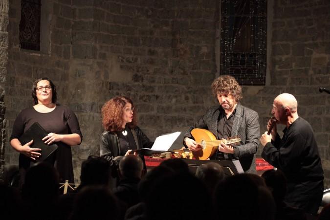 Alla francesca : V. Biffi, B. Lesne, M. Grébil, P. Hamon, photo : Bruno Garcia