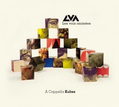 """Visuel CD """"A Cappella Kubes"""" des Voix animées"""