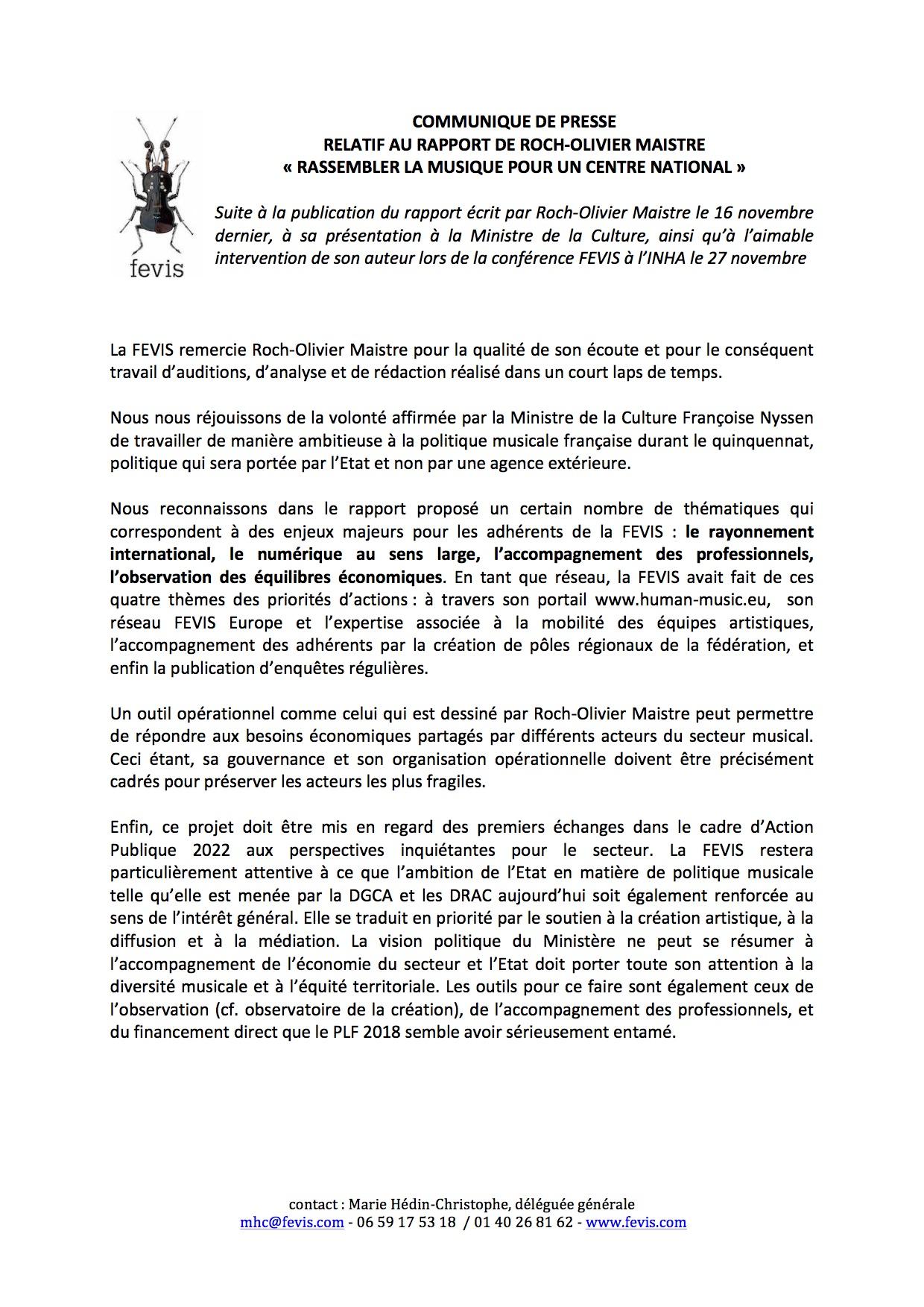 CP FEVIS rapport Roch Olivier Maistre - copie