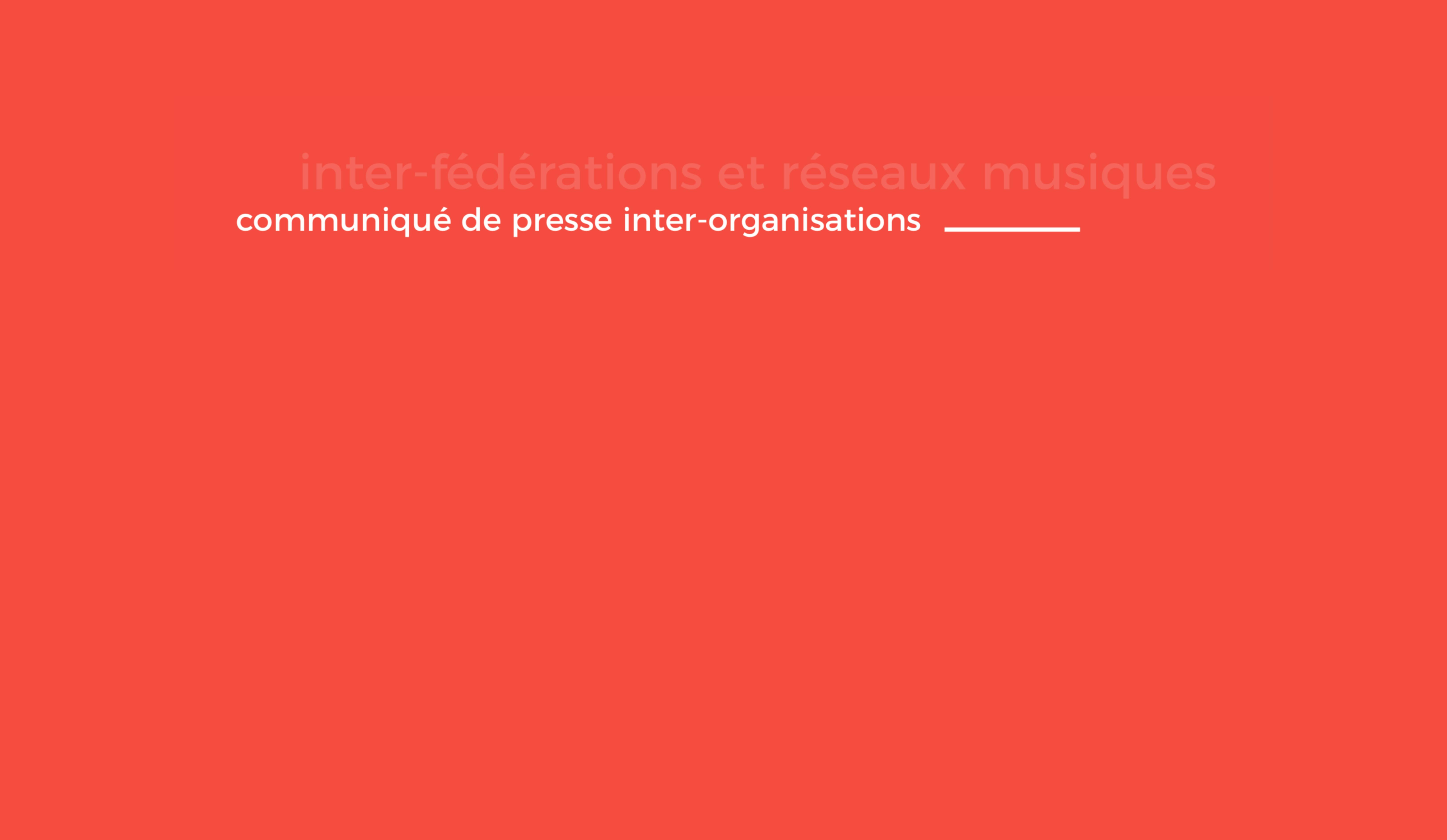 """Communiqué inter-organisations : Colloque """"musiques et politique"""" au Sénat en 2020"""