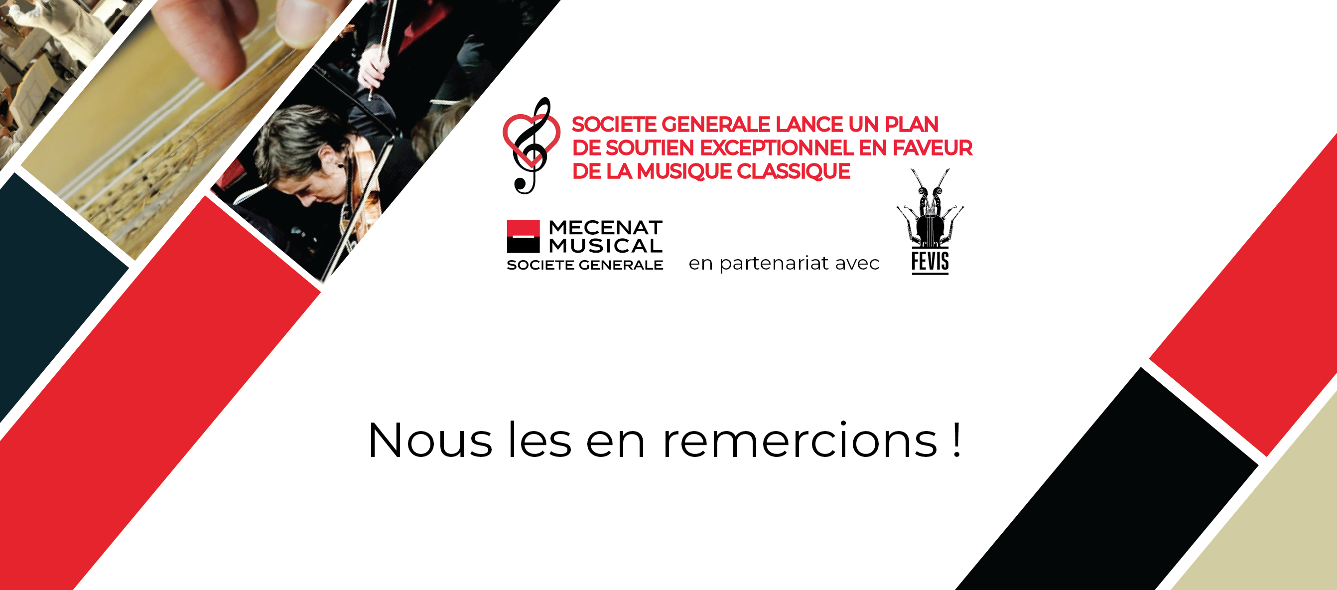 Plan de soutien exceptionnel de Société Générale en faveur de la musique classique en France