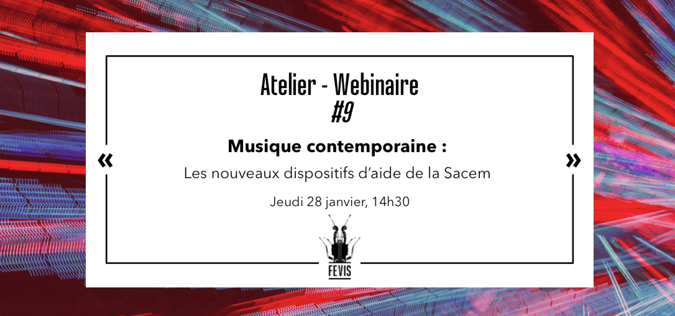 Webinaire Musique contemporaine : les nouveaux dispositifs de la Sacem – Replay disponible